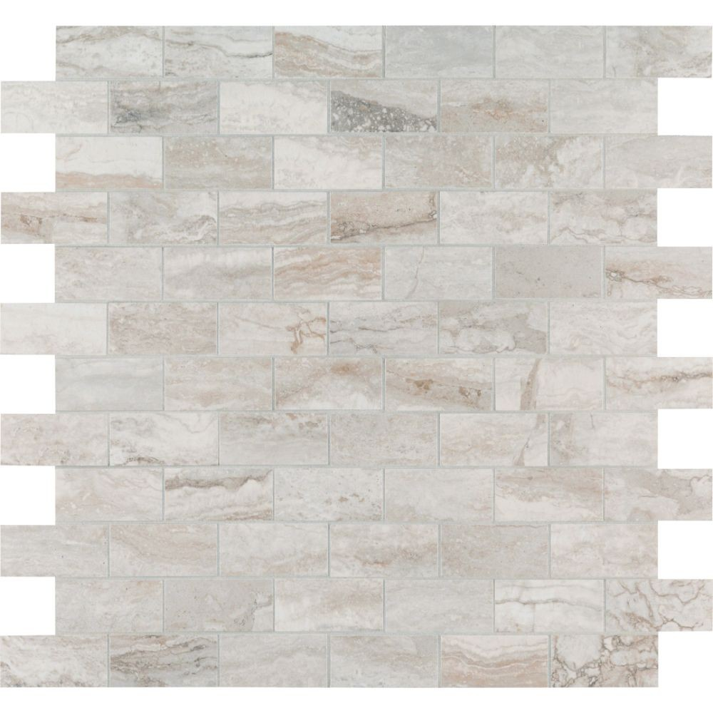 Pietra Bernini Camo 2X4 Polished Mosaic