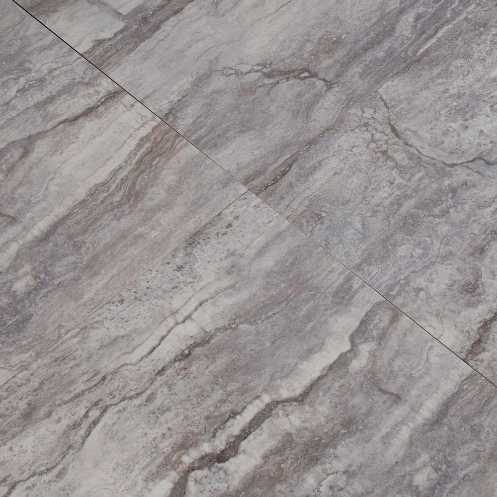 Pietra Bernini Carbone 18X18 Polished Porcelain Tile