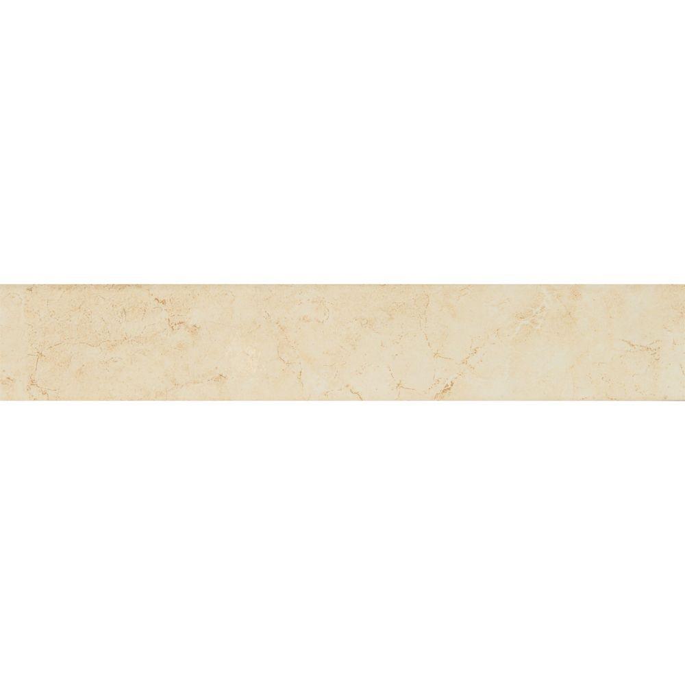 Pietra Marfil Bullnose 3X18 Polished