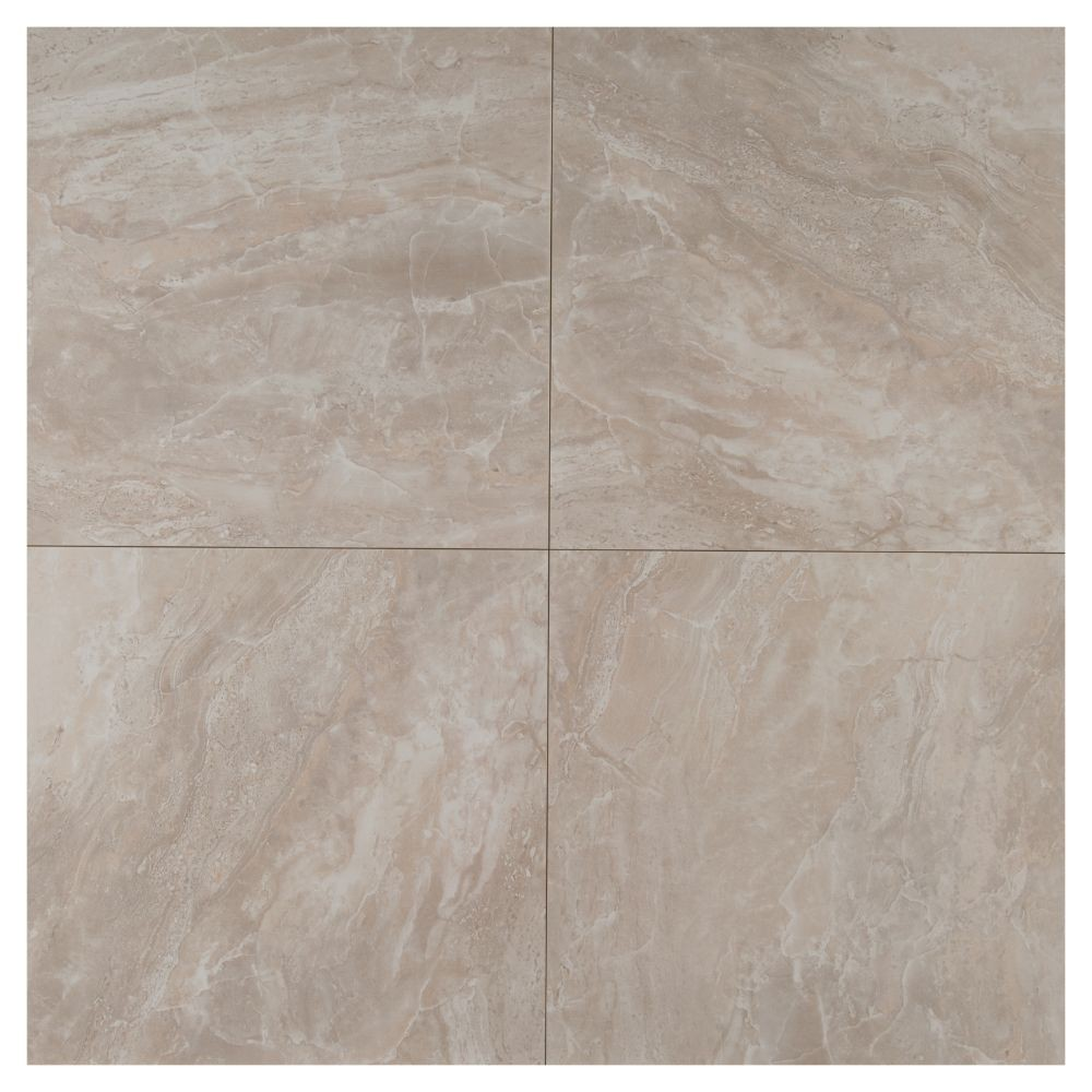 Pietra Pearl 18X18 Polished Porcelain Tile