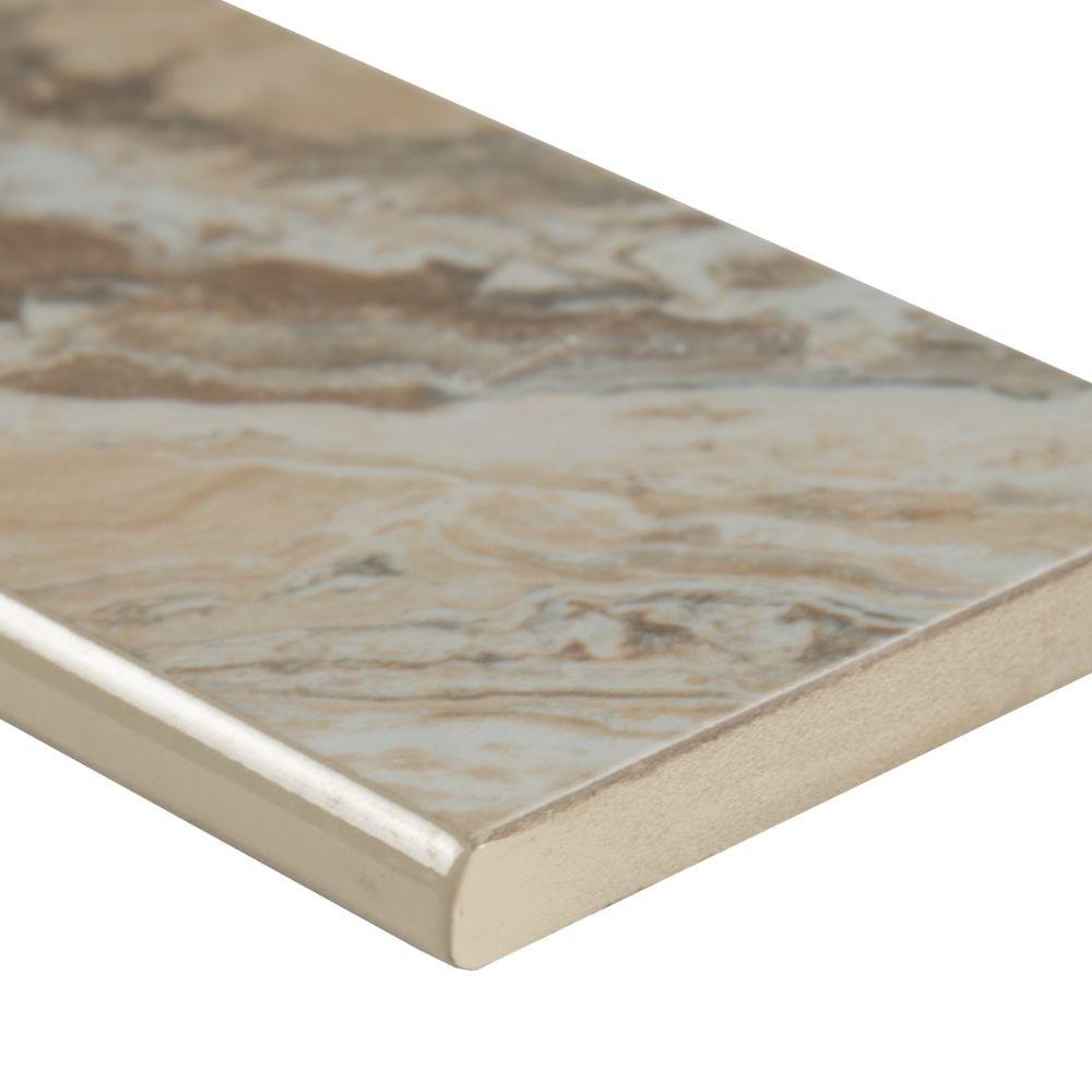 Pietra Venata Sand 3X18 Polished Bullnose