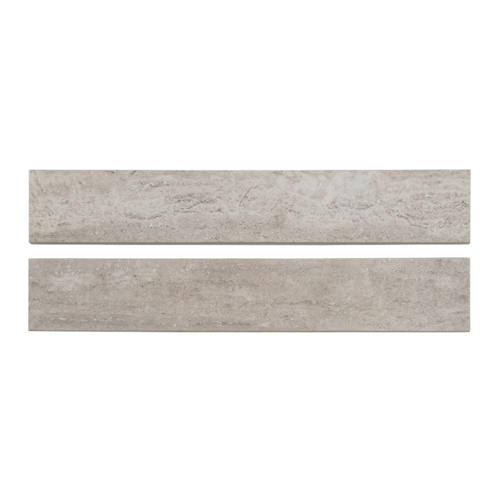 Pietra Venata White 3X18 Polished Bullnose