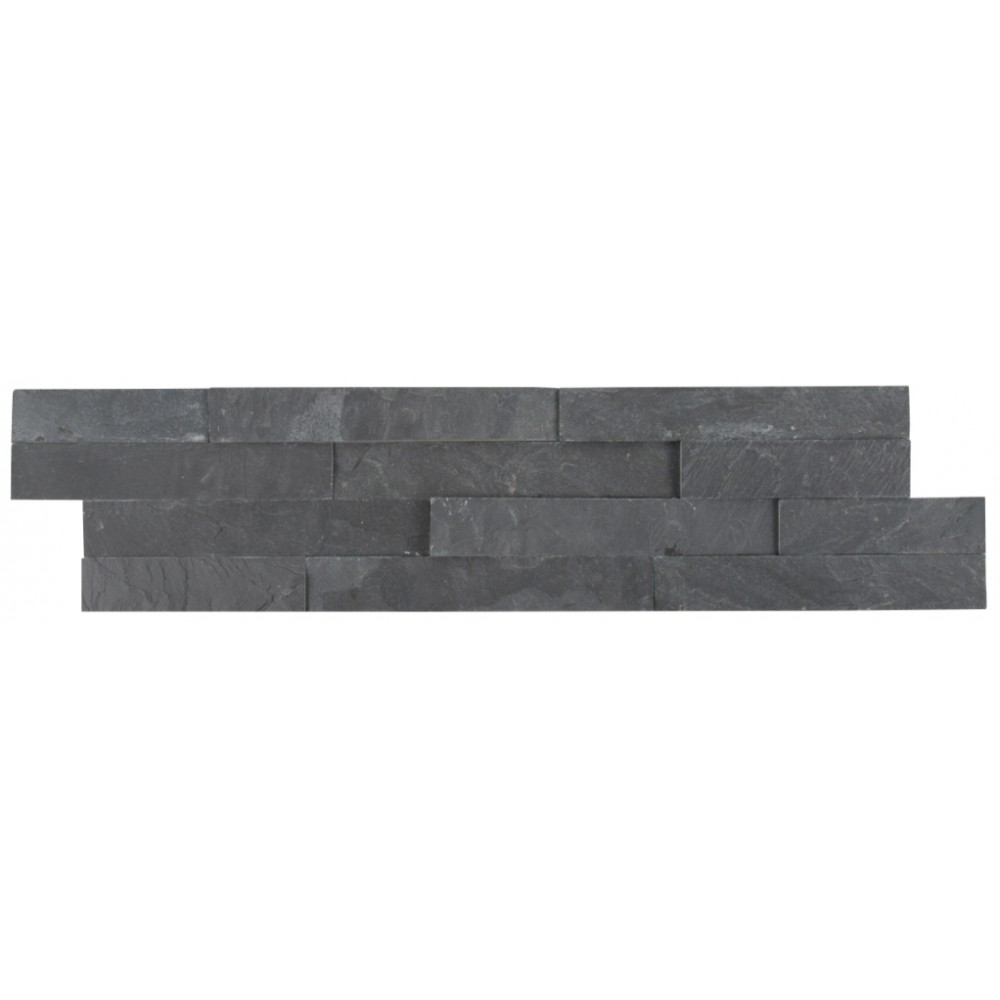 Premium Black 6X24 Split Face Ledger Panel