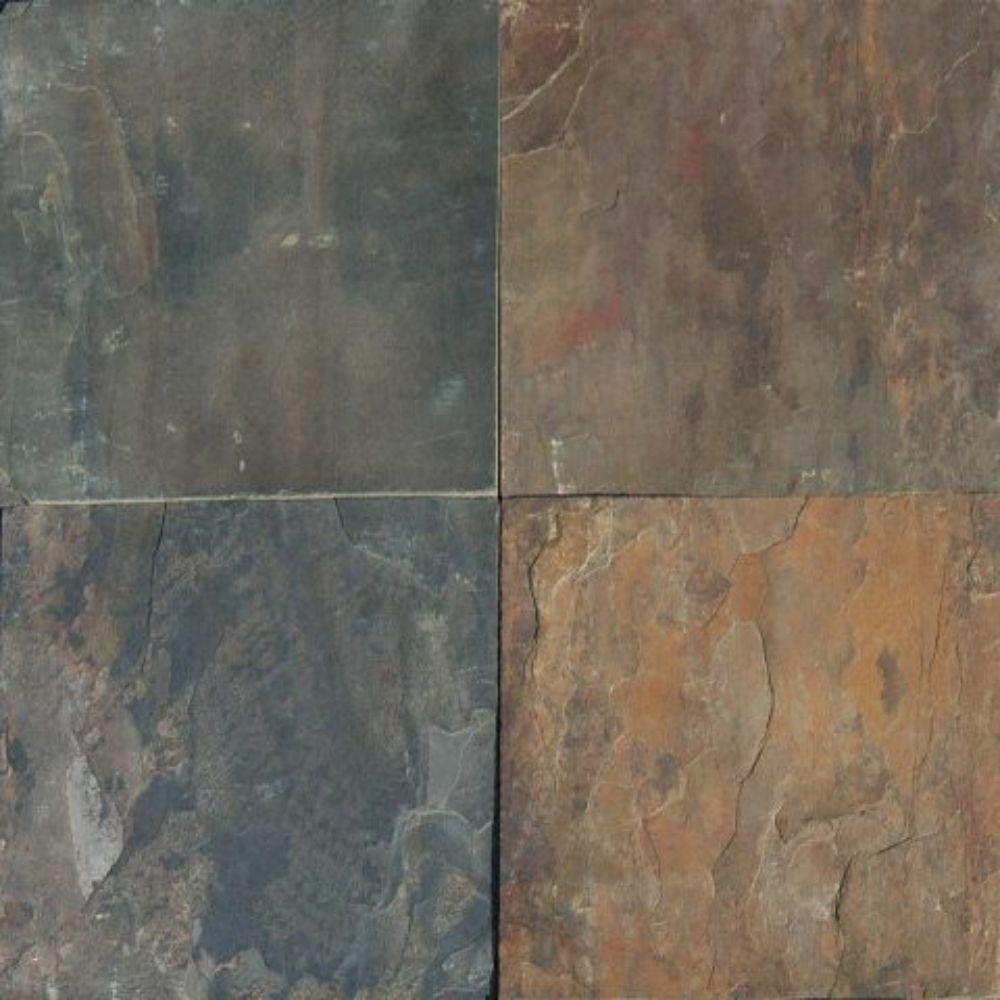 Rustique Earth 12X12 Gauged Slate Floor and Wall Tile