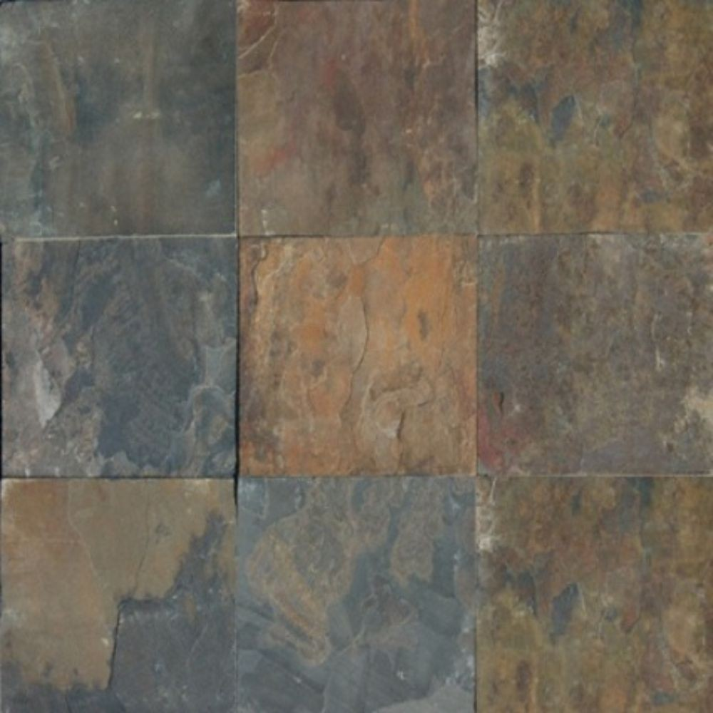 Rustique Earth 16X16 Gauged Slate Floor and Wall Tile