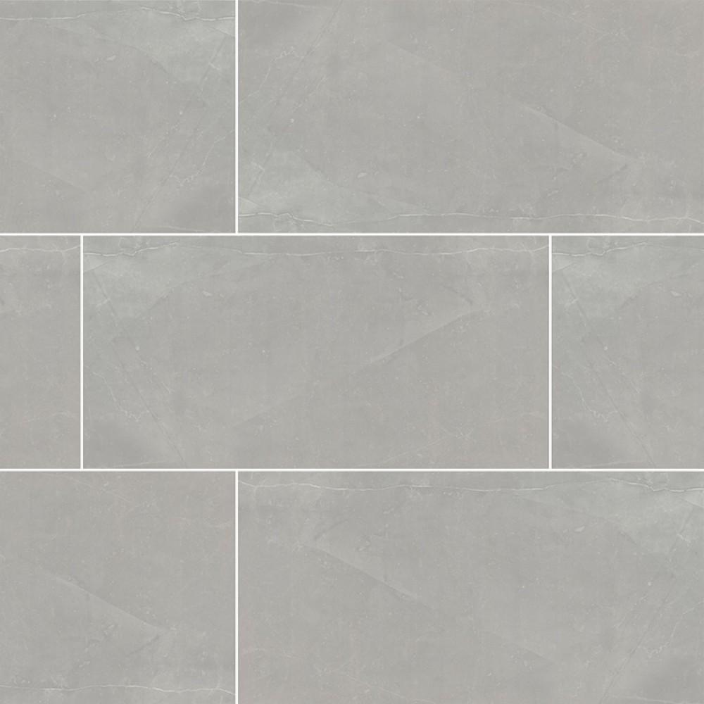 Sande Grey 3X18 Polished Bullnose Porcelain Tile