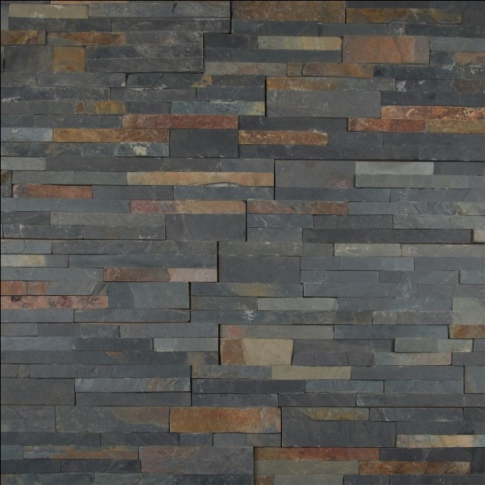 Sedona Multi Color 6X24 Split Face Ledger Panel