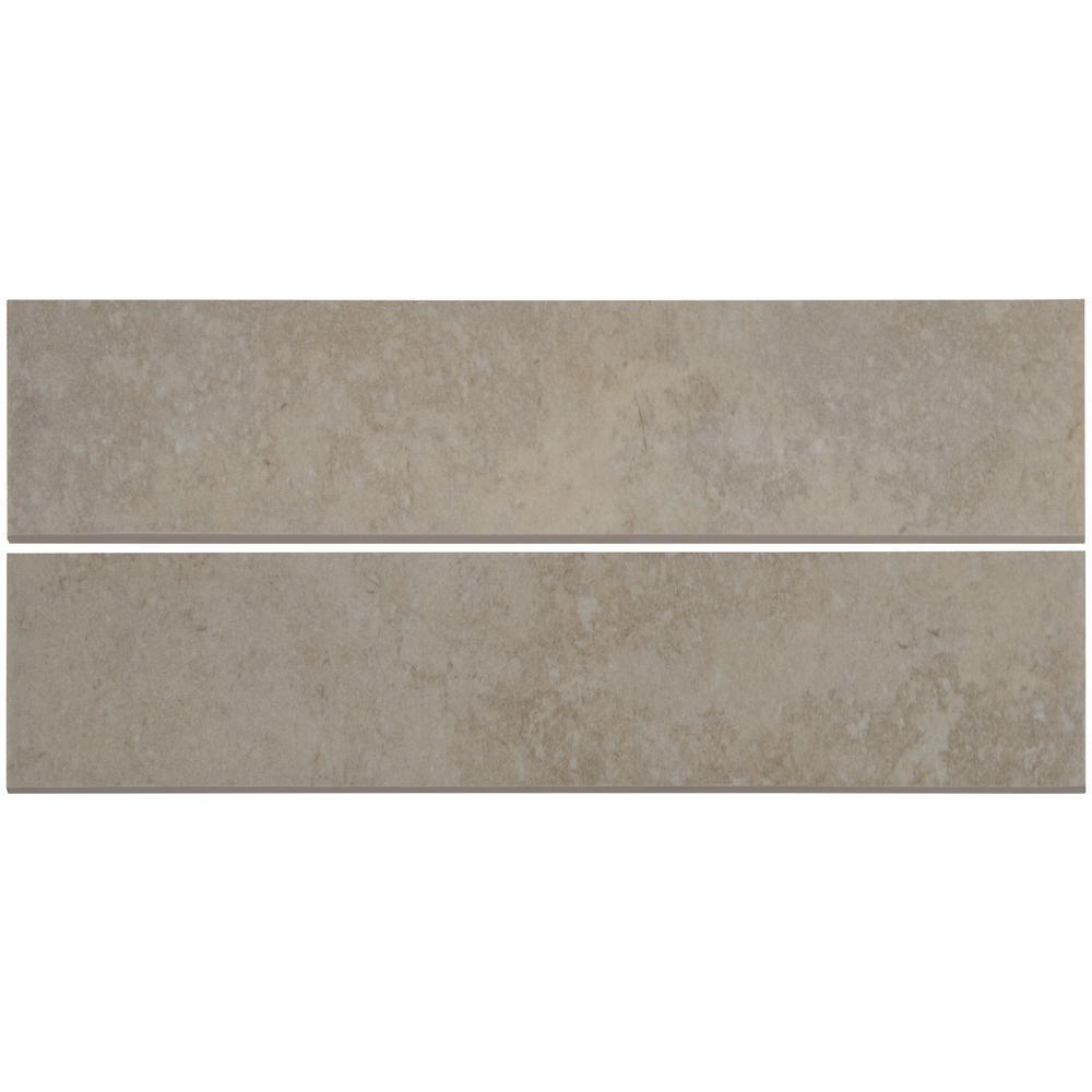Tempest Grey 3X13 Matte Bullnose Ceramic Tile
