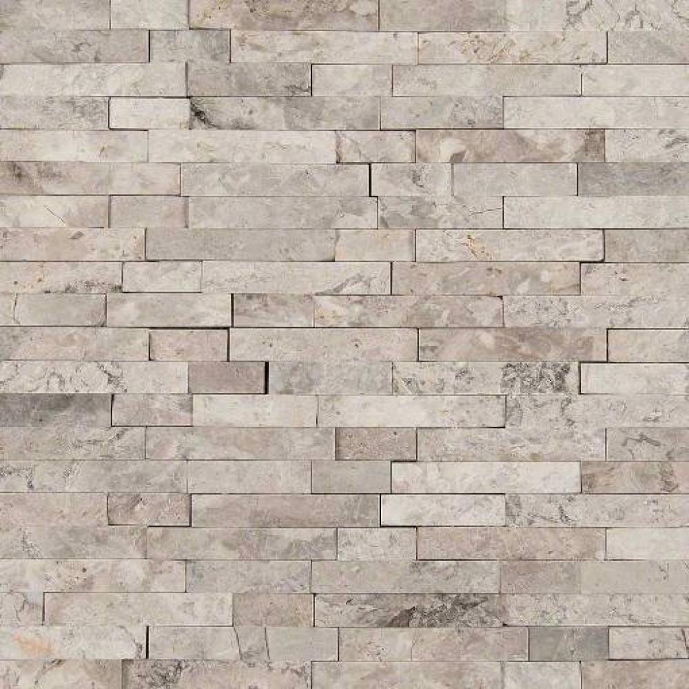 Tundra Gray Splitface Interlocking Pattern Mosaic