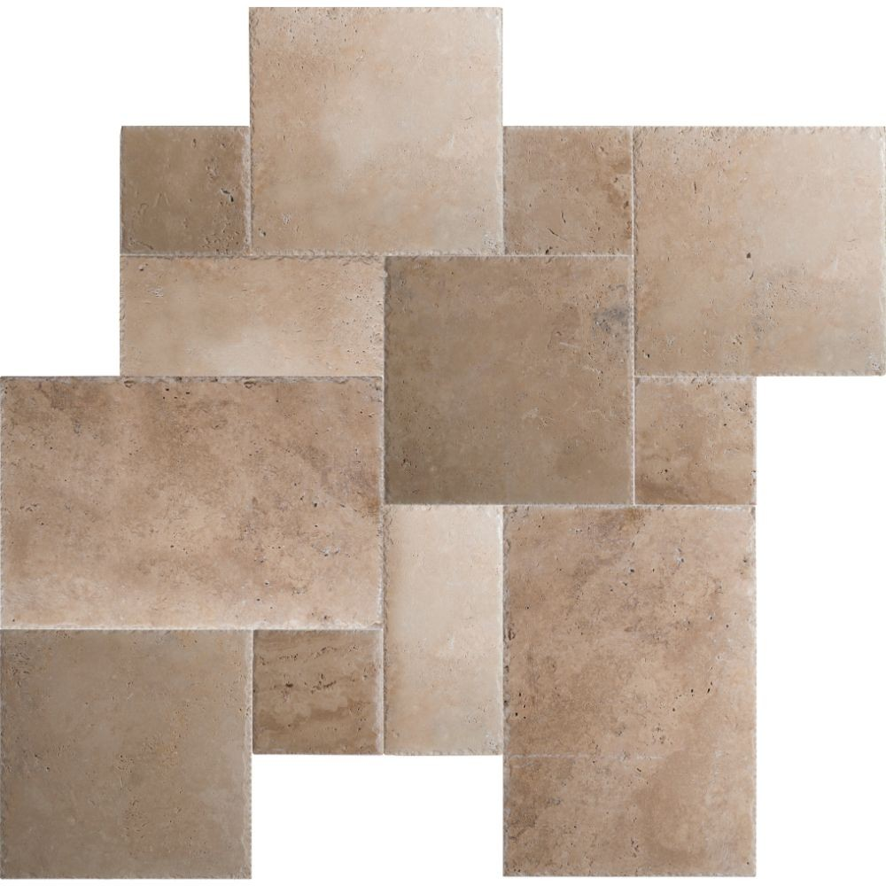 Tuscany Beige French Pattern 16 Sft Honed Unfilled Chipped