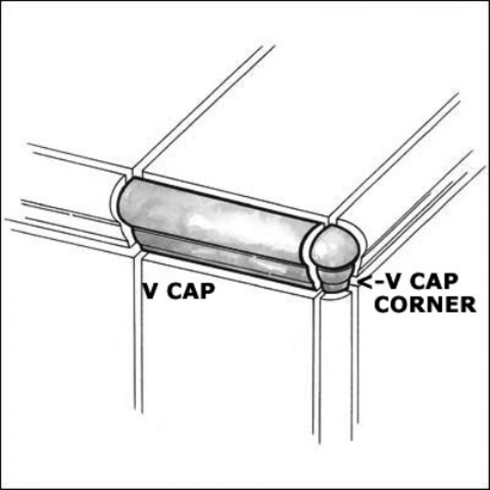 Travertino Walnut VCap Corner 1x2.5 Matte