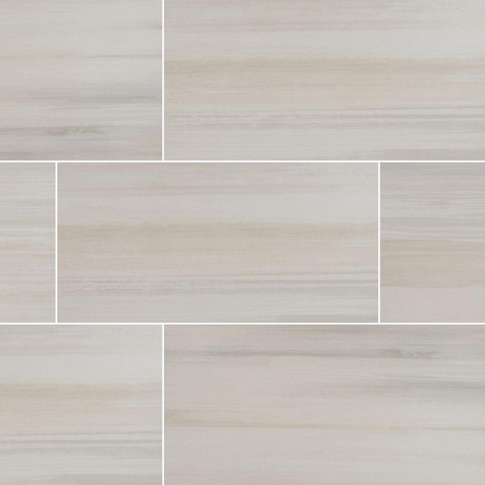 Watercolor Bianco 12x24 Matte Porcelain Tile