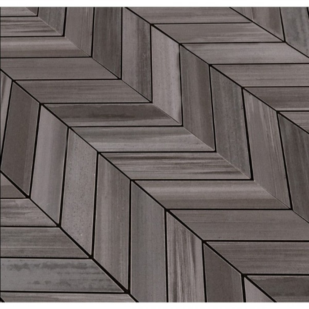 Watercolor Graphite 12x15 Chevron Mosaic