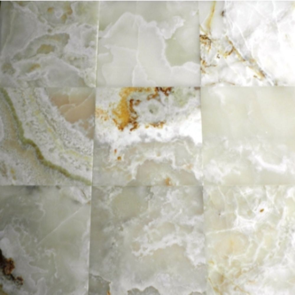 White Onyx 12X12 Polished