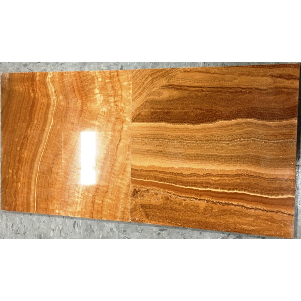 Wooden Yellow 12x12 Polished Marble Tile