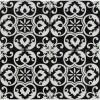 Tetris Florita Nero 6x6 Polished Marble Wall Tile