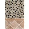 Tuscany Walnut Dome Molding 1x1x12 Honed
