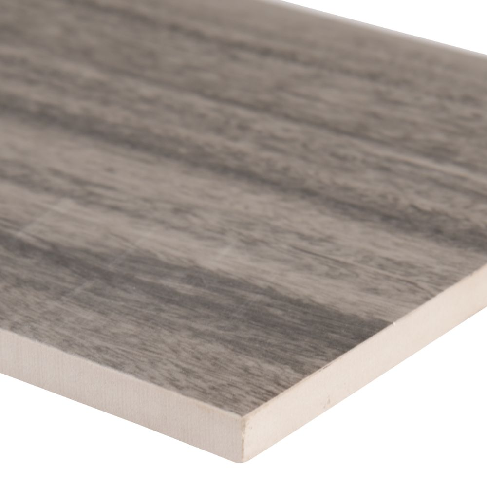 Dellano Moss Grey 8x48 Polished Wood Look Porcelain Tile