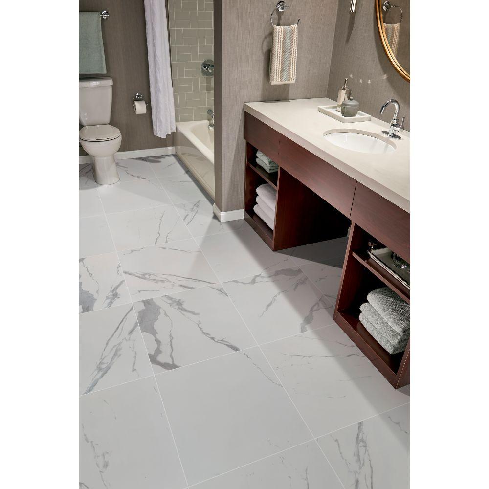 Eden Statuario 24X24 Polished Porcelain Tile
