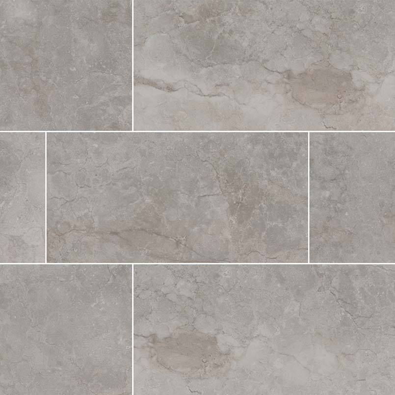 Essentials Ansello Grey 12X24 Matte Ceramic Tile