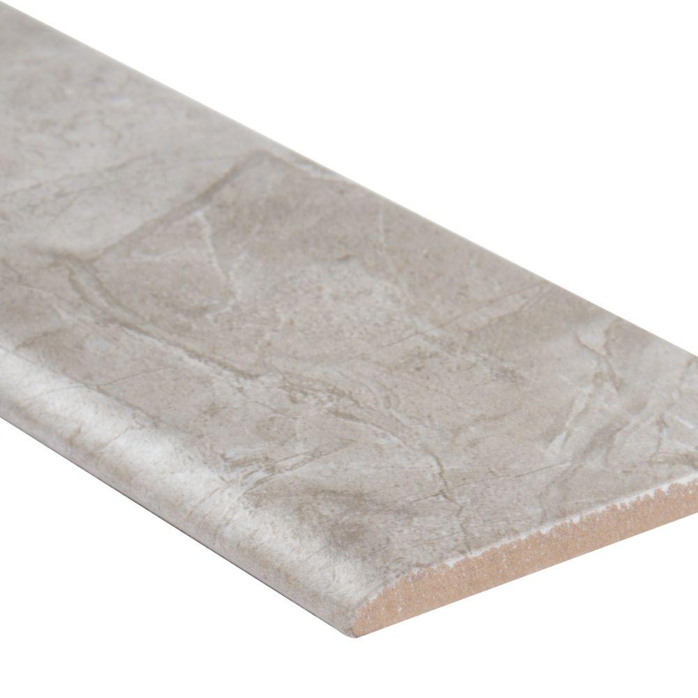 Essentials Vision Glacier Bullnose 3X18 Matte Ceramic Tile