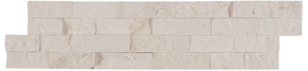 Freska White 6X24 Split Face Ledger Panel