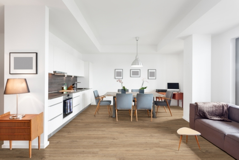 Glenridge Saddle Oak 6x48 Glossy Wood LVT
