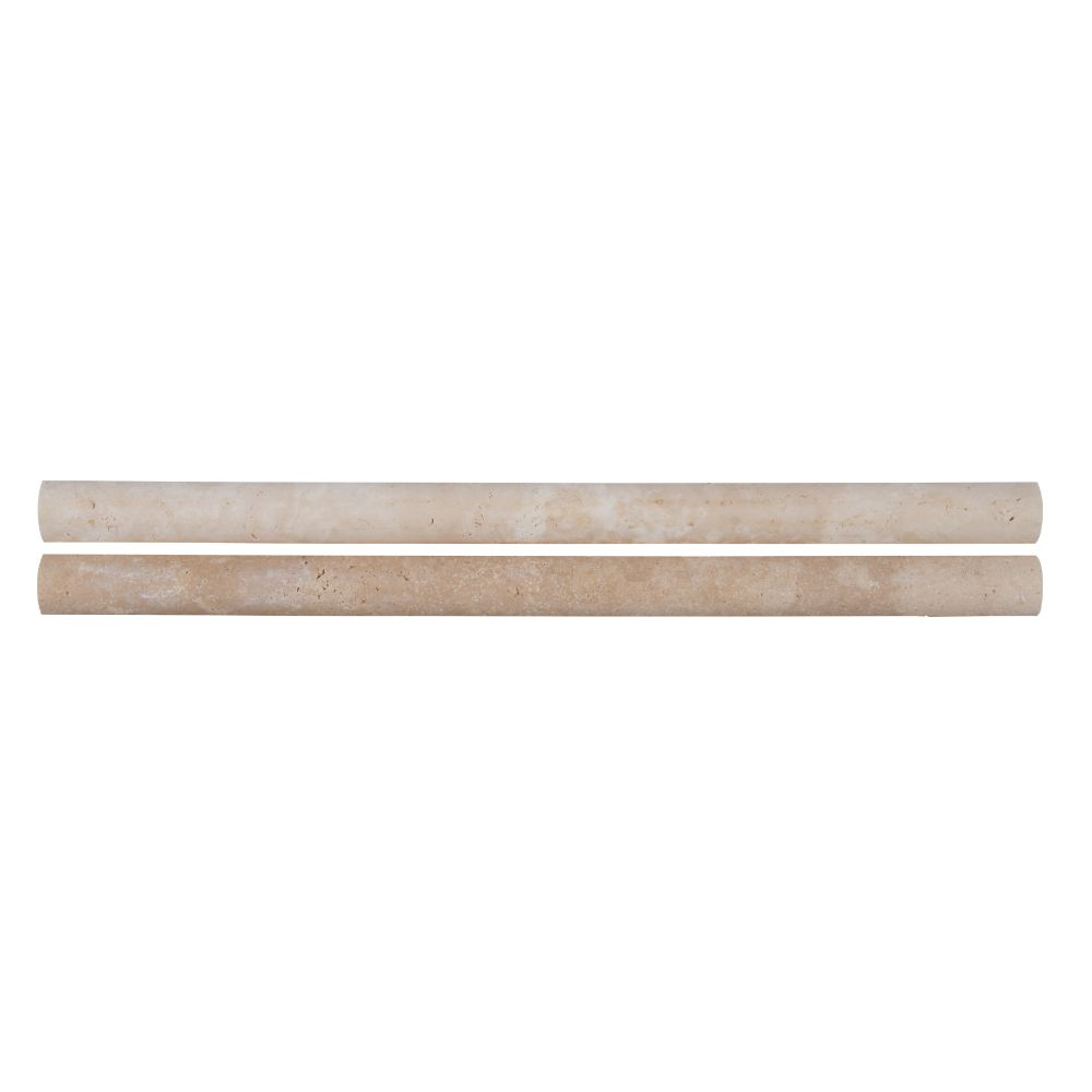 MSI Ivory Travertine 3/4x3/4x12 Honed Pencil Molding
