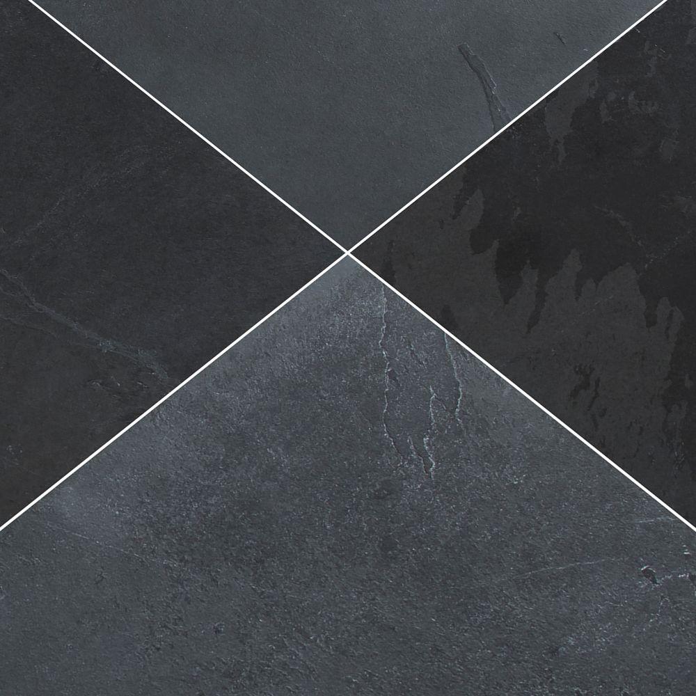 Montauk Black 12X12 Honed Slate