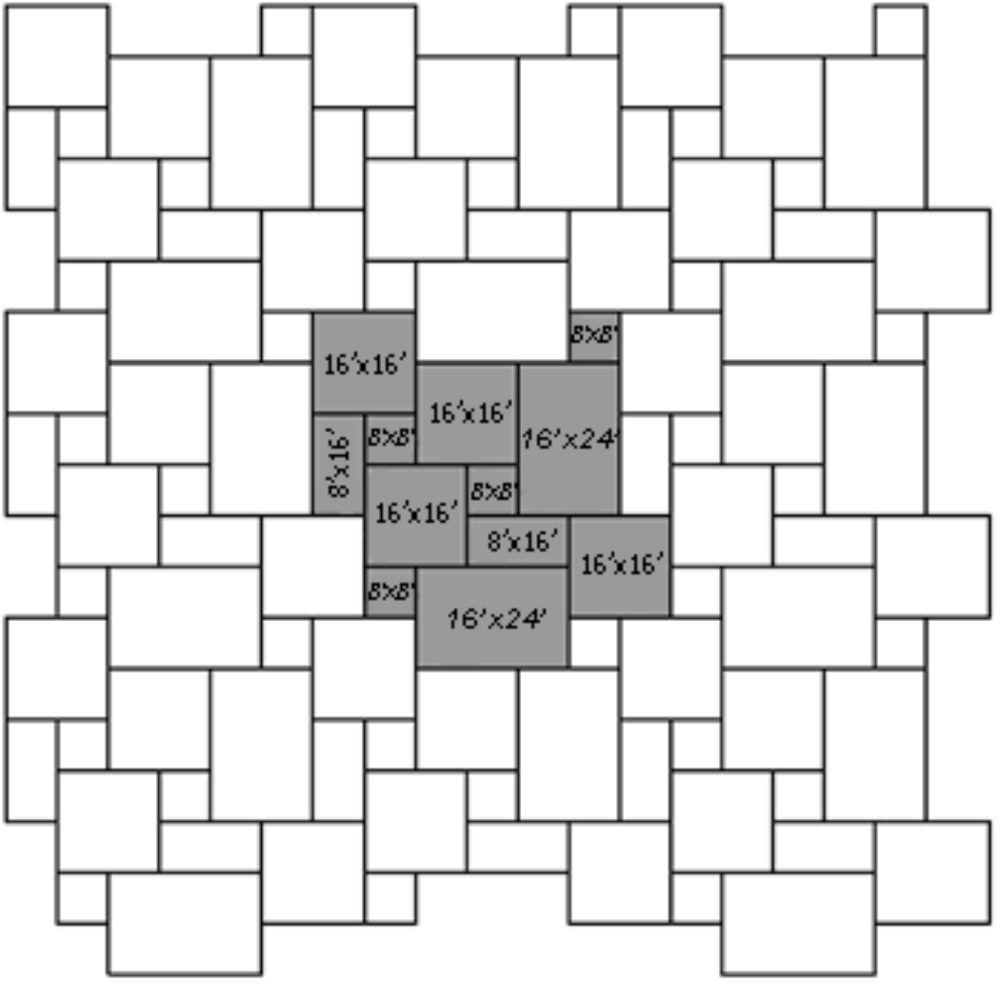 Montauk Blue 16 Sft Ashlar Pattern Gauged Slate