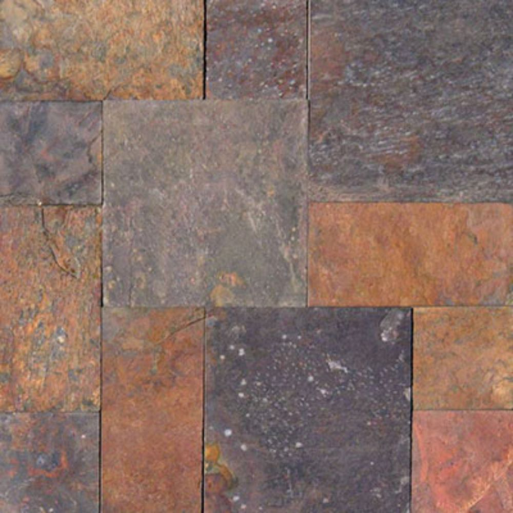 Multi Classic 16 Sft French Pattern Gauged Slate Tile