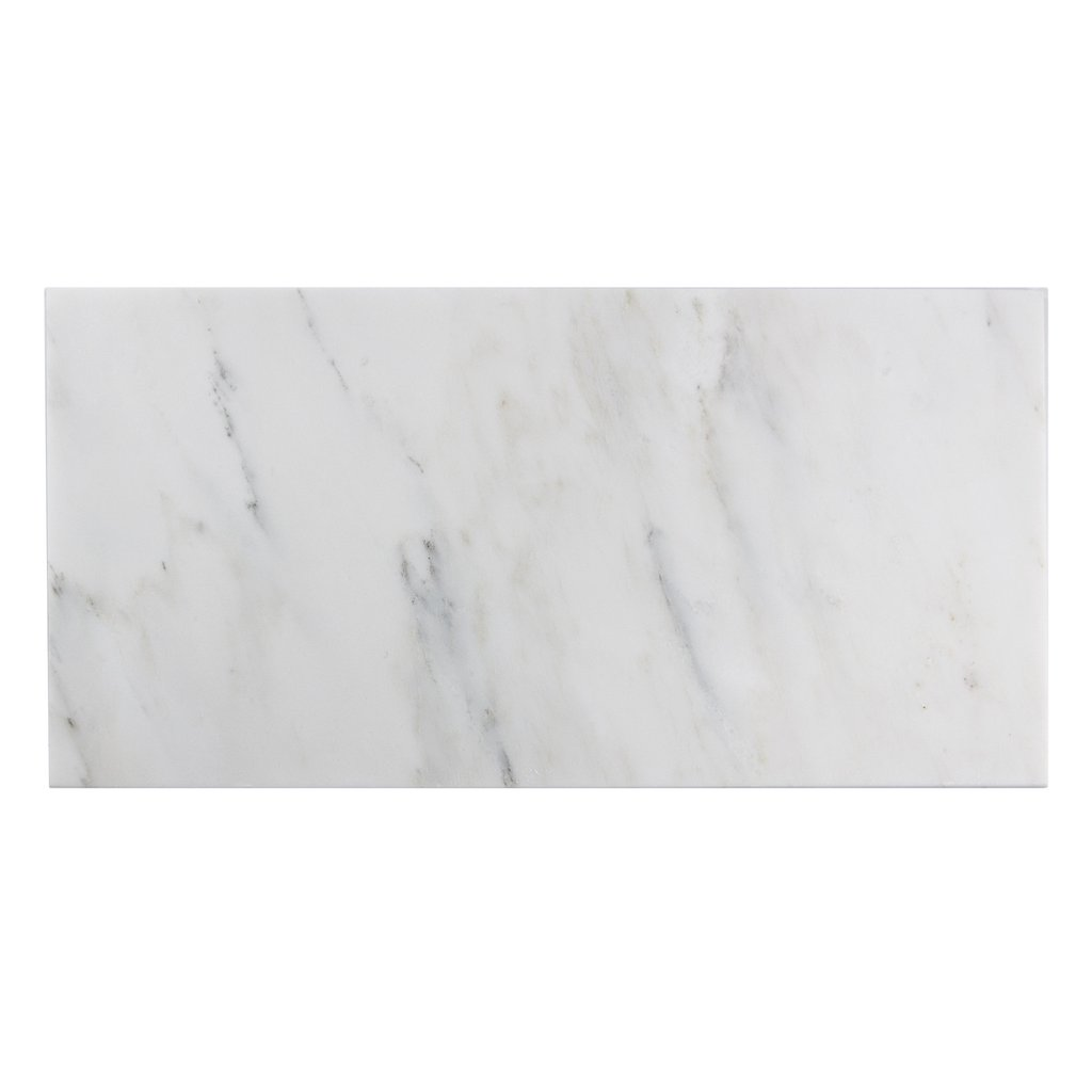 Oriental White Polished 12x24 Marble Tile