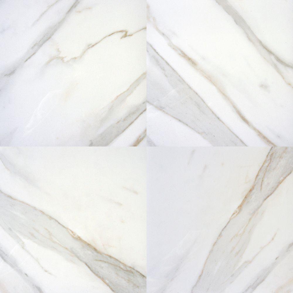 Pietra Calacatta 24x24 Polished Porcelain TIle