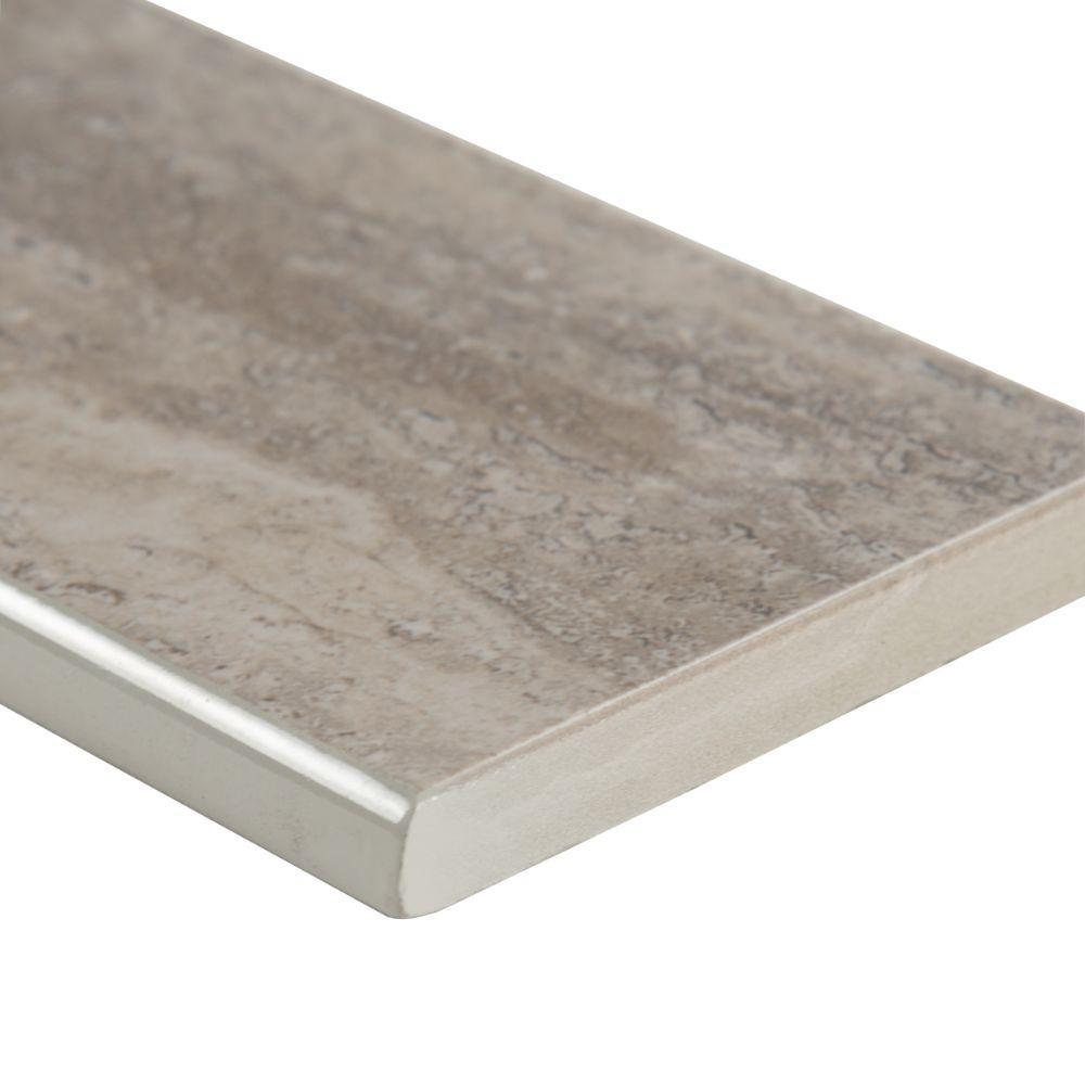 Pietra Venata Gray 3X18 Polished Bullnose