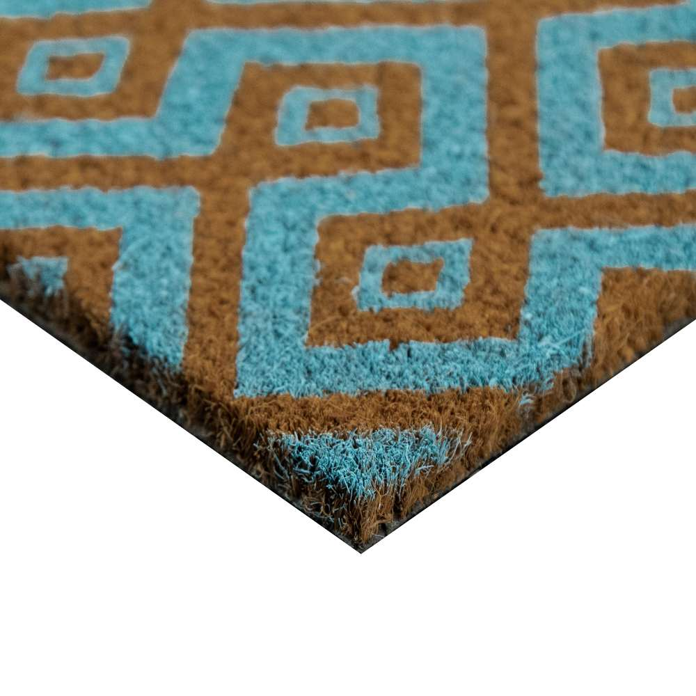 Square Aqua Natural Coir 22X36 Door Mat