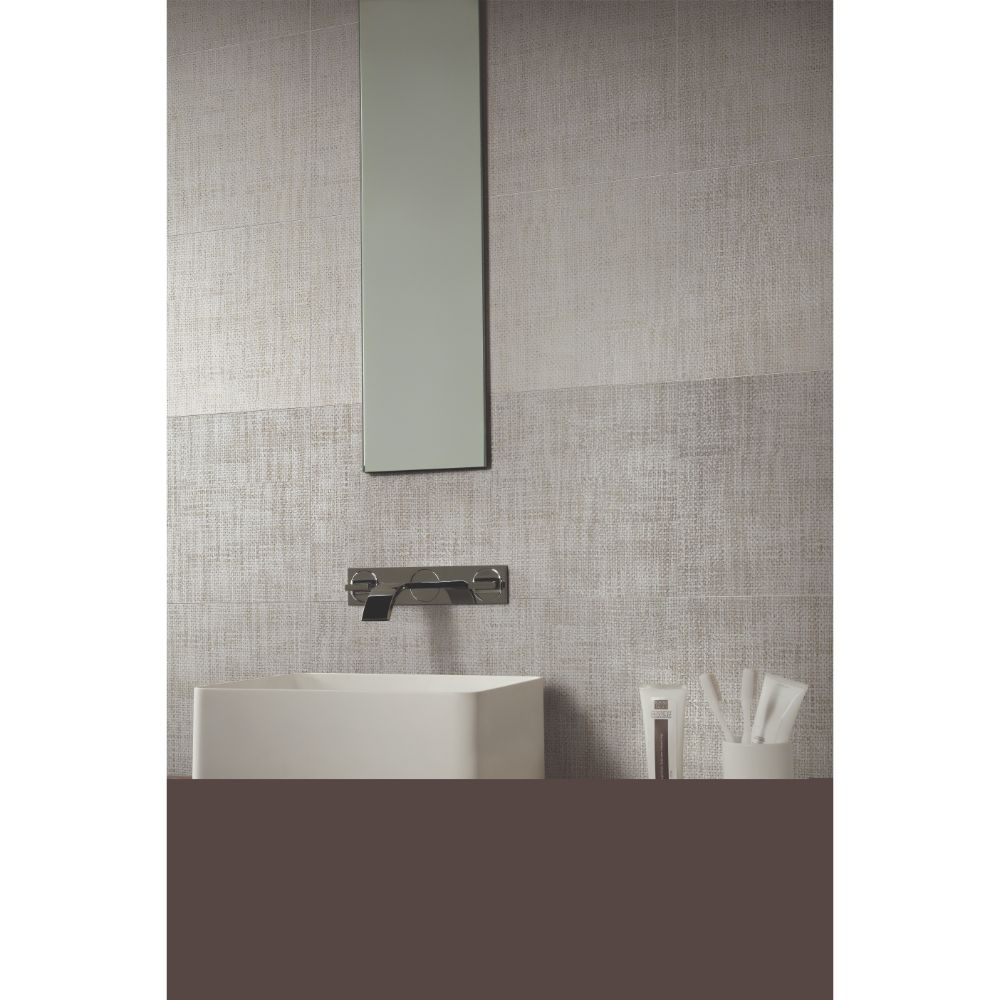 Tektile Crosshatch Gray 12X24 Matte Porcelain Tile