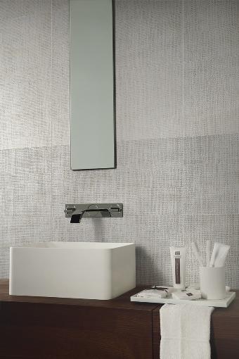 Tektile Crosshatch Ivory 12X24 Matte Porcelain Tile