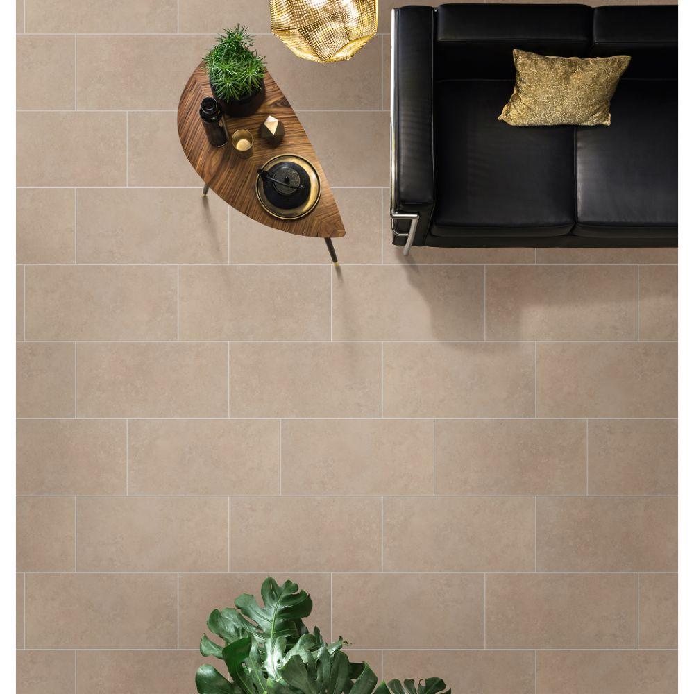 Travertino Beige 12x24 Matte Porcelain Tile