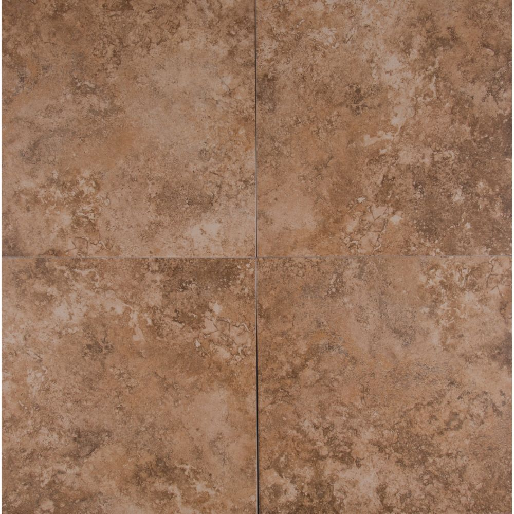Travertino Walnut 12X12 Matte Porcelain Tile