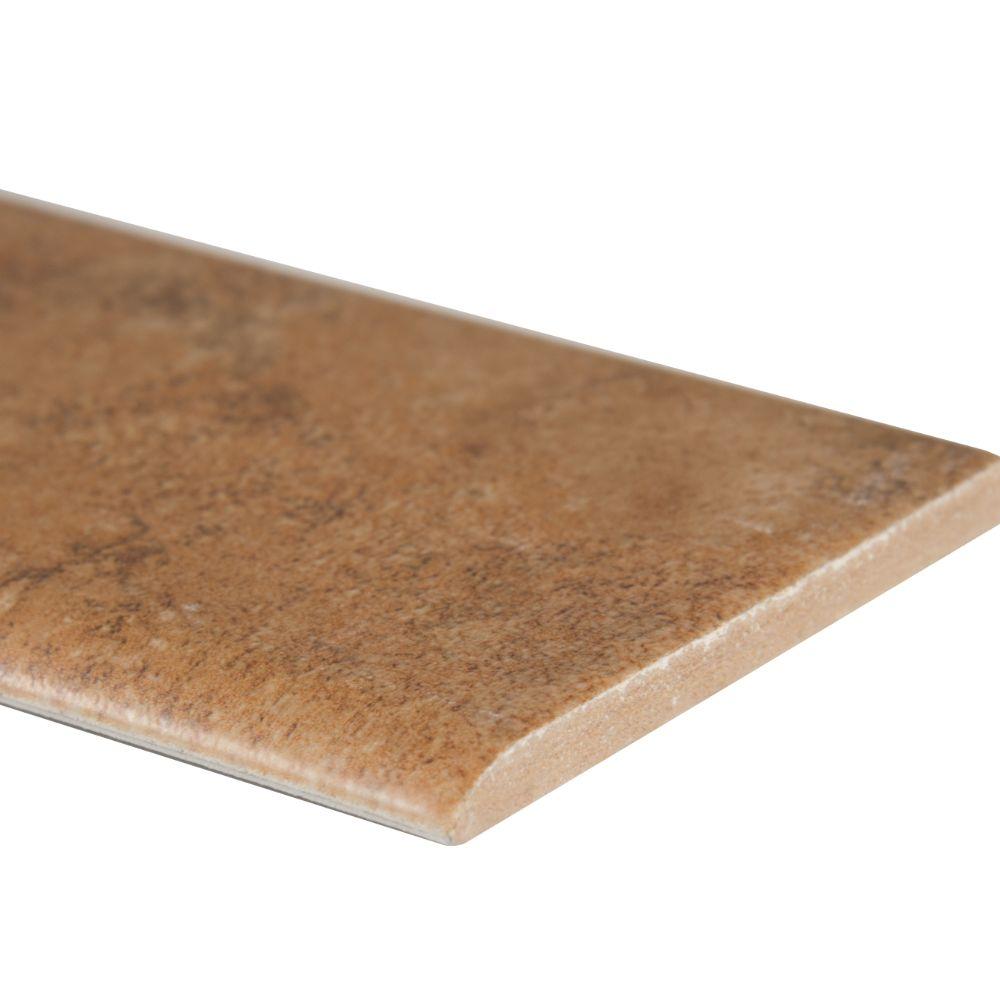 Travertino Walnut 3x18 Matte Bullnose Tile