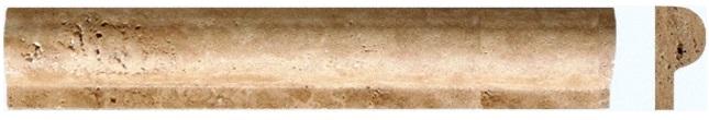 Tuscany Walnut Rail Molding 1x2x12 Honed