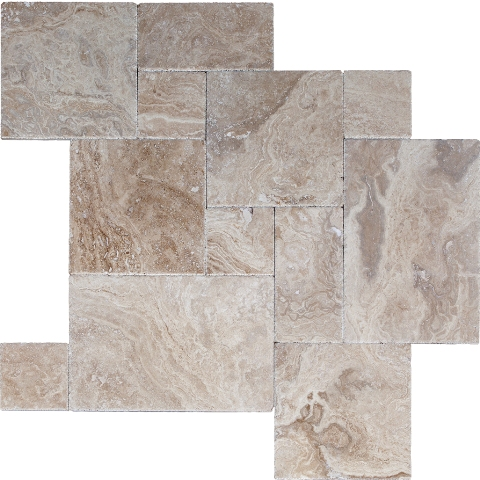 Tuscany Beige Honed /Filled 16 Sqft Per French Pattern
