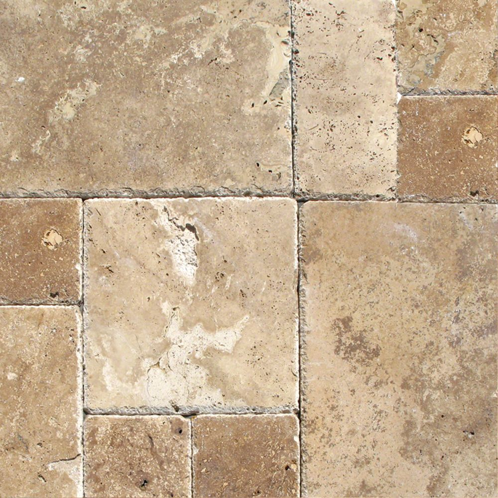 Tuscany Chateaux 16 Sft/Kit Honed Unfilled Chiseled Pattern Outdoor Tile