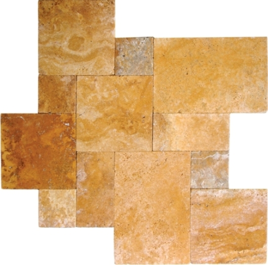 Tuscany Gold 16 Sqft Per Kit Honed, Unfilled And Chipped