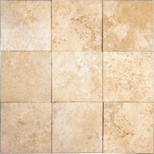 Tuscany Ivory Travertine 4x4 Honed and Beveled Tile