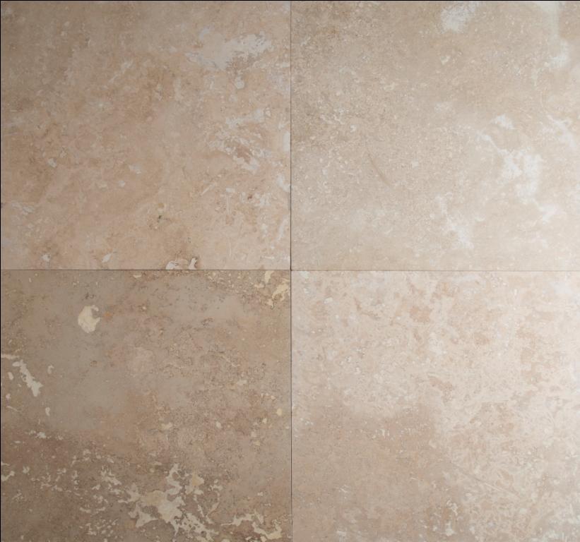 Tuscany Storm 18X18 Honed / Filled Travertine Tile