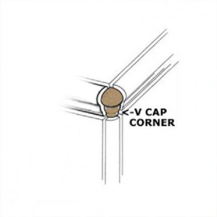 Venice Cappuccino VCap Corner 1x3 Matte