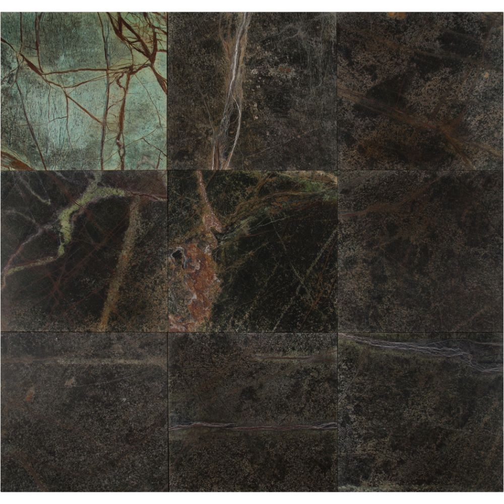 Verde Amazonia 12X12 Polished Marble Floor and Wall Tile