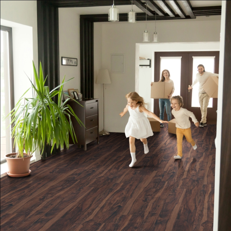 Woodlett Aged Walnut 6X48 Luxury Vinyl Plank Flooring
